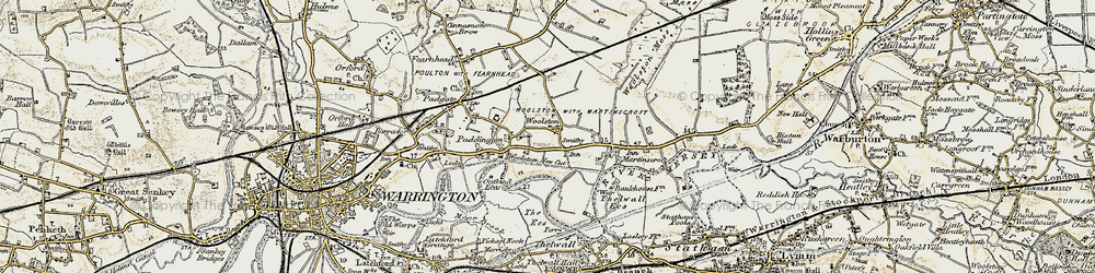 Old map of Woolston in 1903