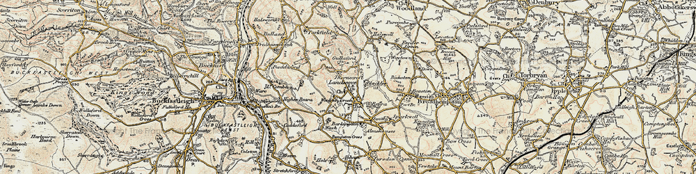 Old map of Woolston Green in 1899