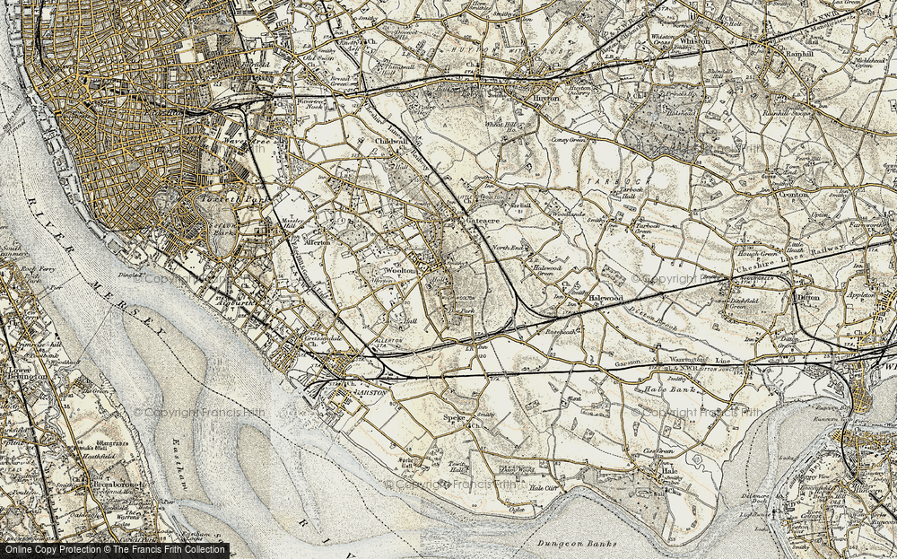 Old Map of Woolton, 1902-1903 in 1902-1903