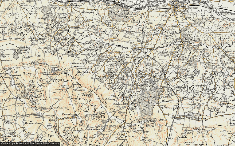 Old Map of Woolton Hill, 1897-1900 in 1897-1900