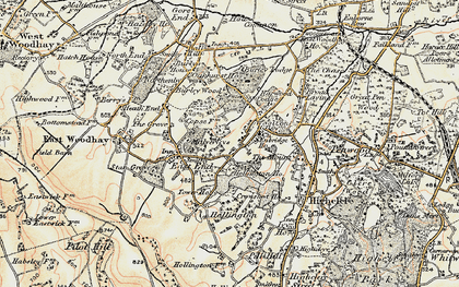 Old map of Woolton Hill in 1897-1900