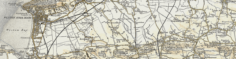 Old map of Woolvers Hill in 1899-1900