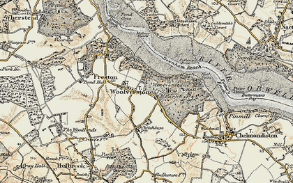 Old map of Woolverstone Park in 1898-1901