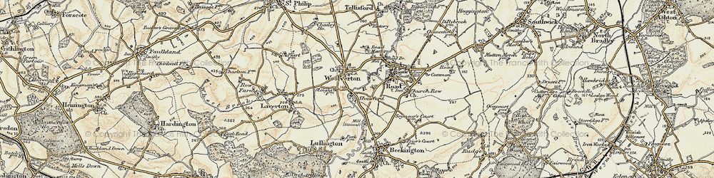 Old map of Woolverton in 1898-1899