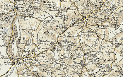 Old map of Woonton in 1899-1902