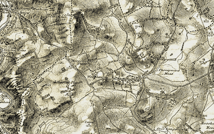 Old map of Wooplaw in 1903-1904