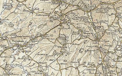 Old map of Whitton Court in 1901-1902