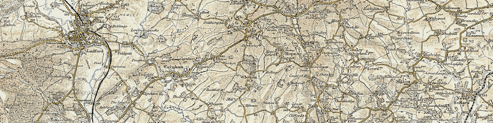 Old map of Whitton Ho in 1901-1902
