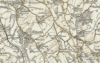 Old map of Wooton in 1902