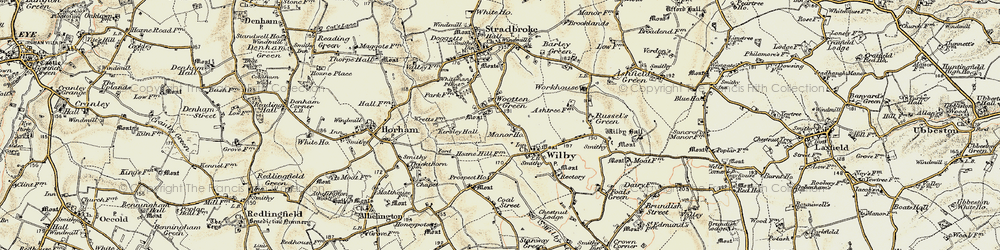 Old map of Wootten Green in 1901