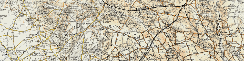 Old map of Wootton in 1897-1909