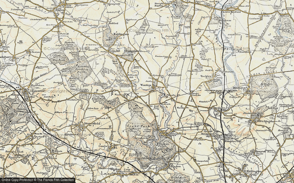 Old Map of Wootton, 1898-1899 in 1898-1899