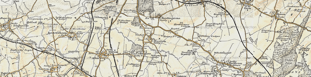 Old map of Wootton in 1898-1901