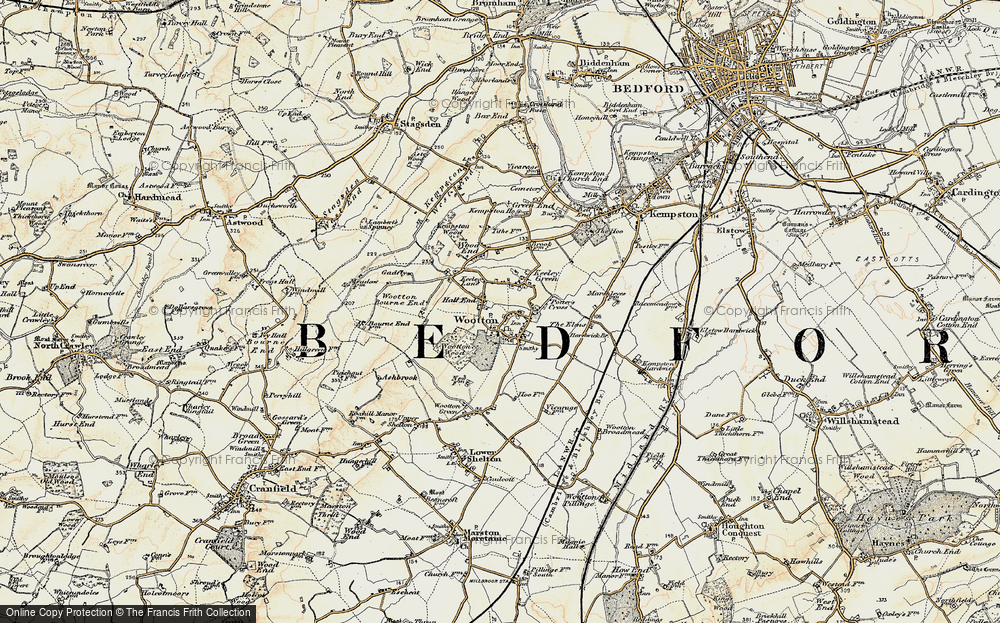 Old Map of Wootton, 1898-1901 in 1898-1901