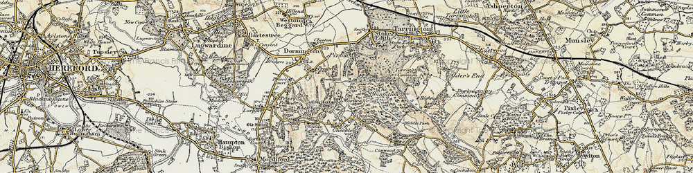 Old map of Wootton in 1899-1901