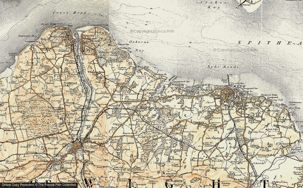 Old Map of Wootton, 1899 in 1899