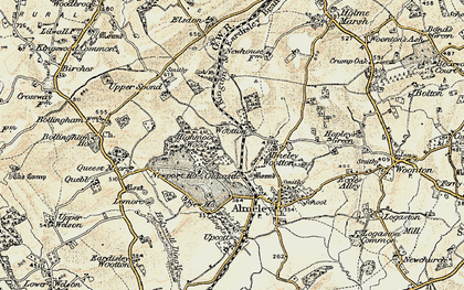 Old map of Wootton in 1900-1901