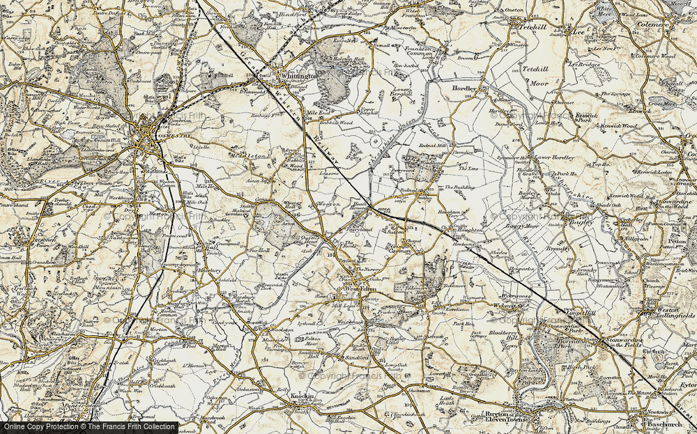 Old Map of Wootton, 1902 in 1902