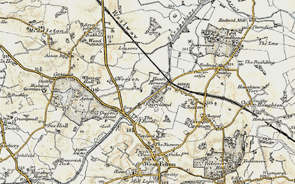 Old map of Wootton in 1902