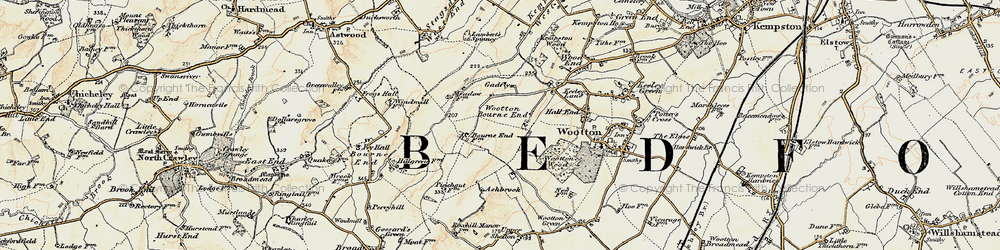 Old map of Wootton Bourne End in 1898-1901