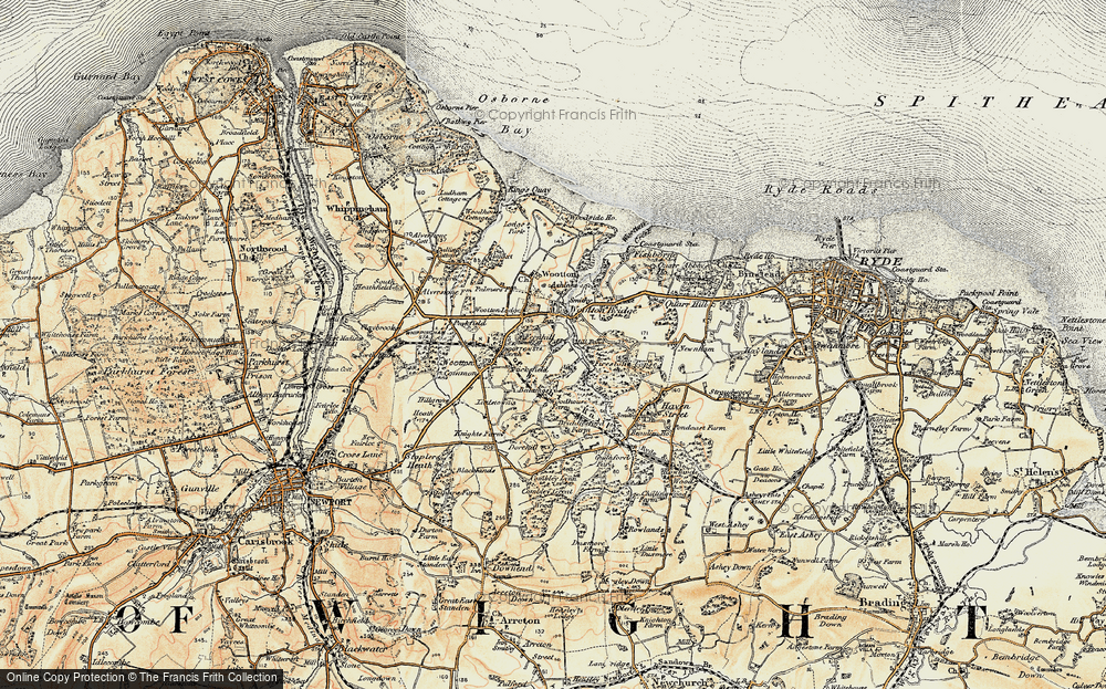 Old Map of Wootton Bridge, 1899 in 1899