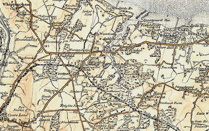 Old map of Wootton Bridge in 1899