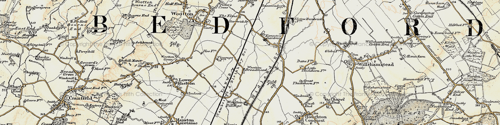 Old map of Wootton Broadmead in 1898-1901