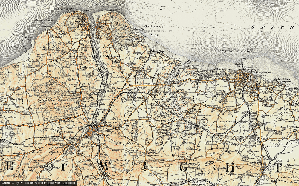 Old Map of Historic Map covering Westwood in 1899
