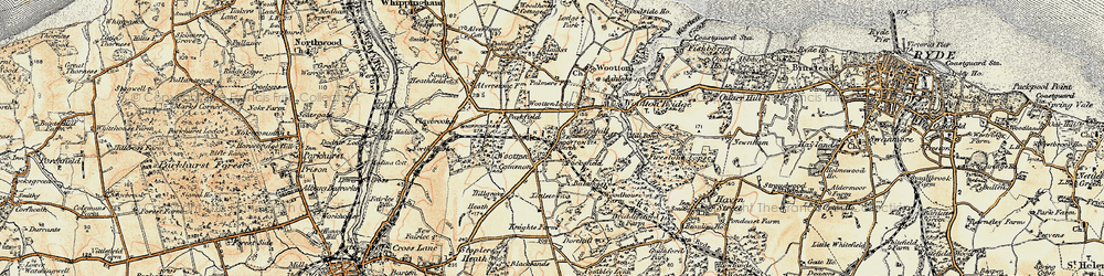 Old map of Westwood in 1899