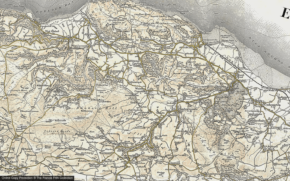 Old Map of Historic Map covering Wootton Common in 1898-1900