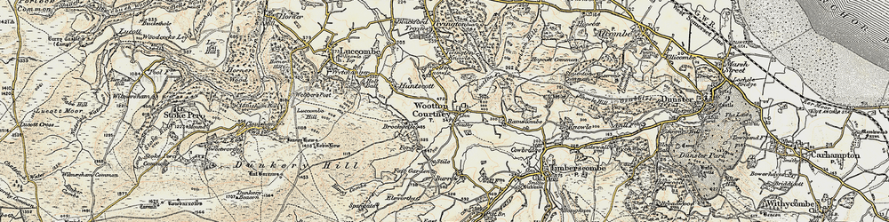 Old map of Wootton Common in 1898-1900