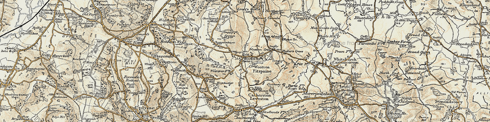 Old map of Wootton Fitzpaine in 1898-1899