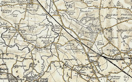 Old map of Wootton Green in 1901-1902