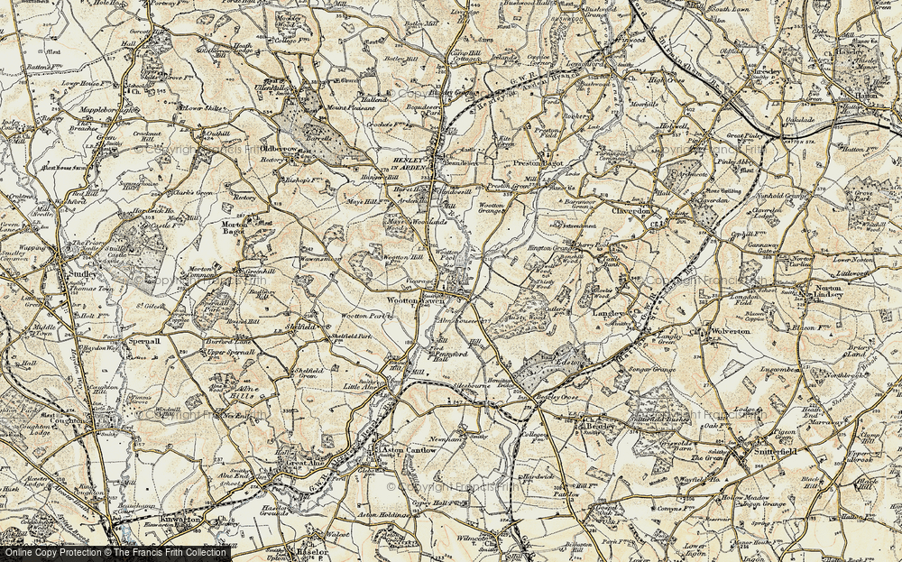Old Map of Historic Map covering Austy Manor in 1899-1902