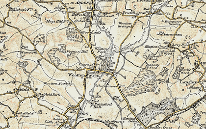 Old map of Austy Manor in 1899-1902