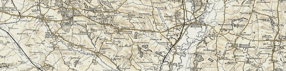 Old map of Alders in 1902