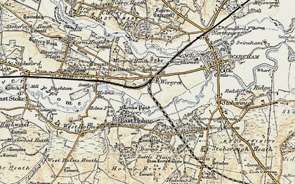 Old map of Worgret in 1899-1909