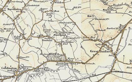 Old map of Workhouse End in 1898-1901