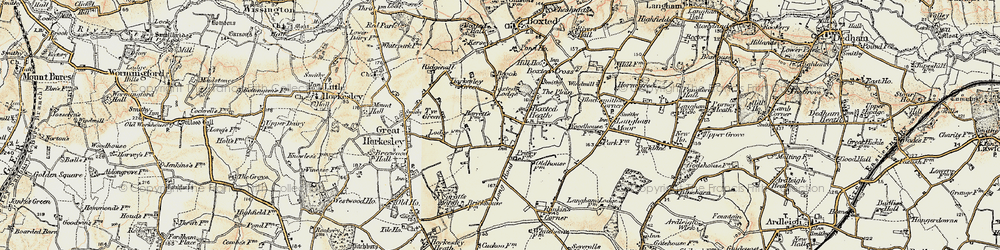 Old map of Workhouse Hill in 1898-1899