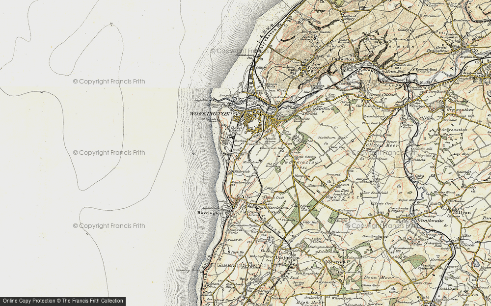 Old Map of Workington, 1901-1904 in 1901-1904
