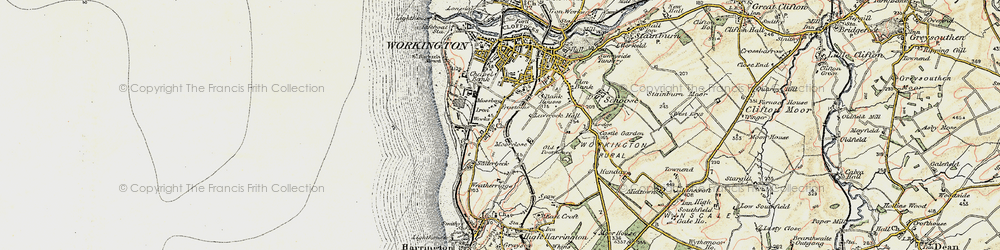 Old map of Workington in 1901-1904