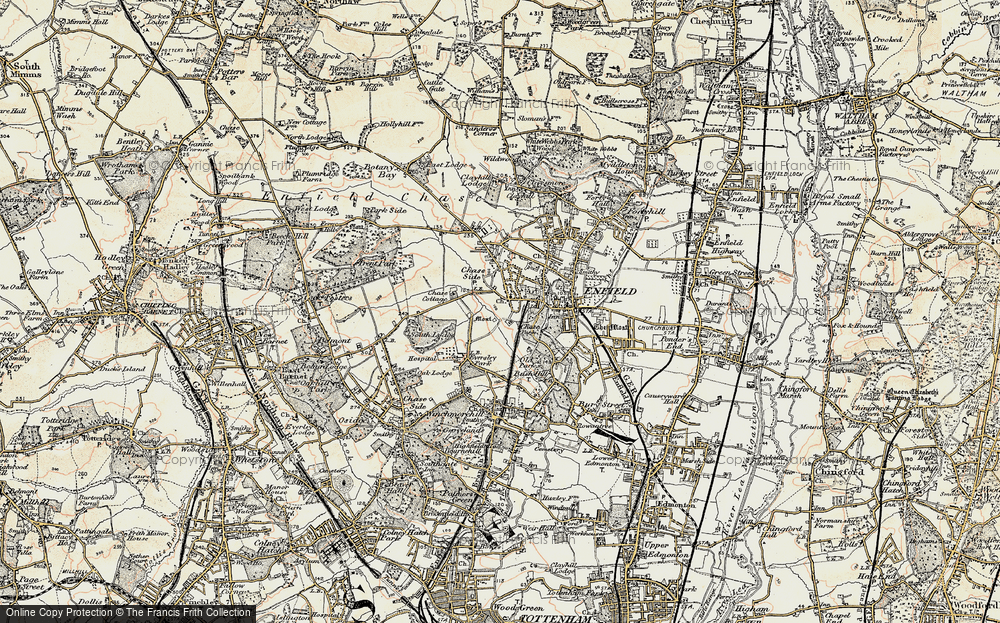 Old Map of World's End, 1897-1898 in 1897-1898