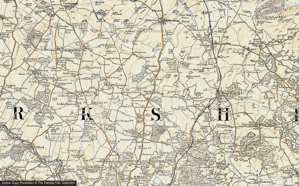 Old Map of World's End, 1897-1900 in 1897-1900