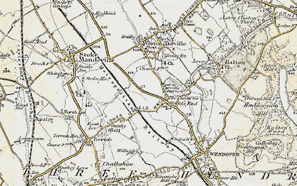 Old map of The Chilterns in 1898