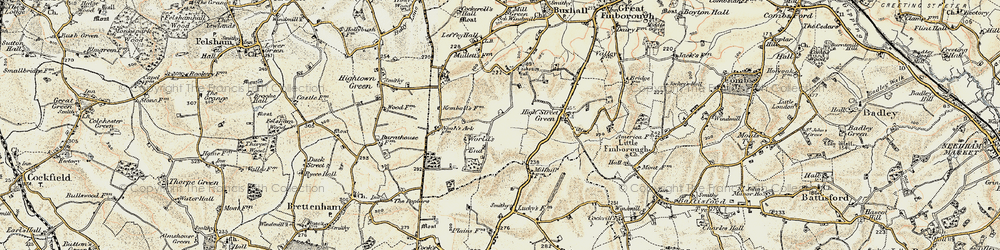 Old map of World's End in 1899-1901