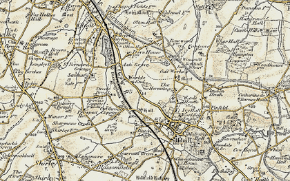 Old map of Worlds End in 1901-1902