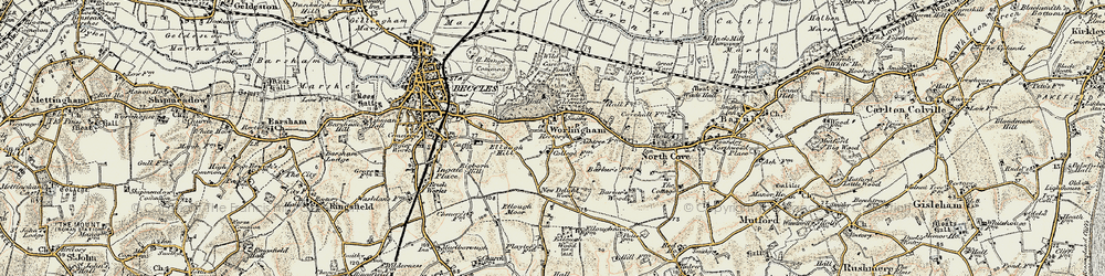 Old map of Wild Carr in 1901-1902