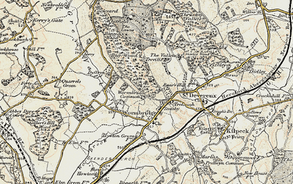 Old map of Wormbridge Common in 1900