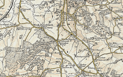 Old map of Wormelow in 1900