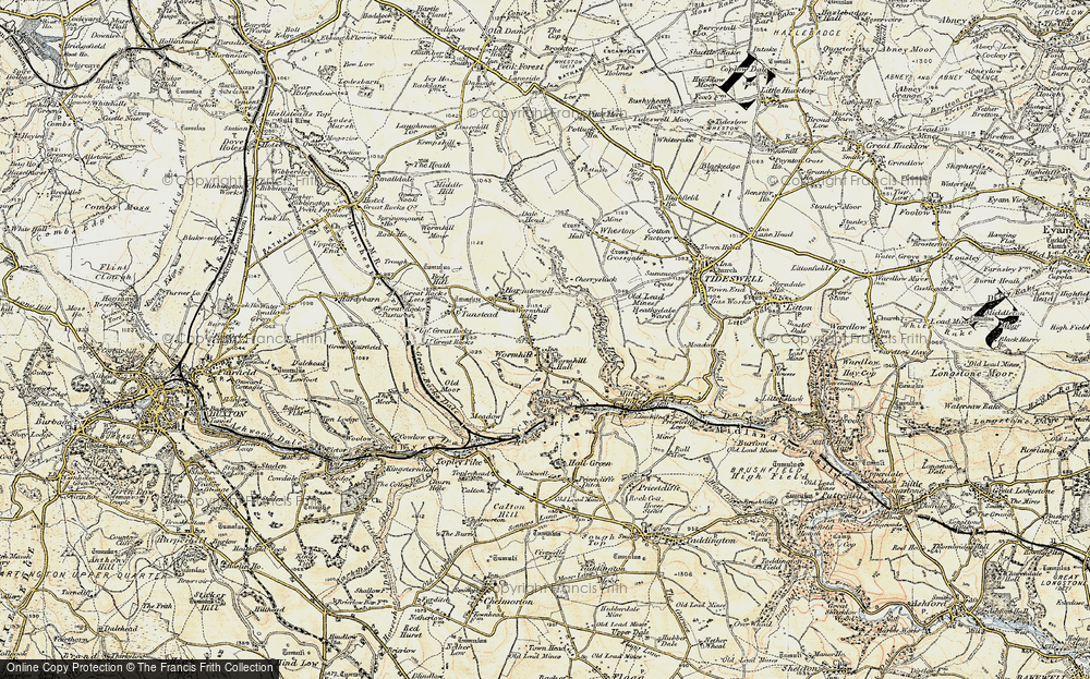 Old Map of Wormhill, 1902-1903 in 1902-1903